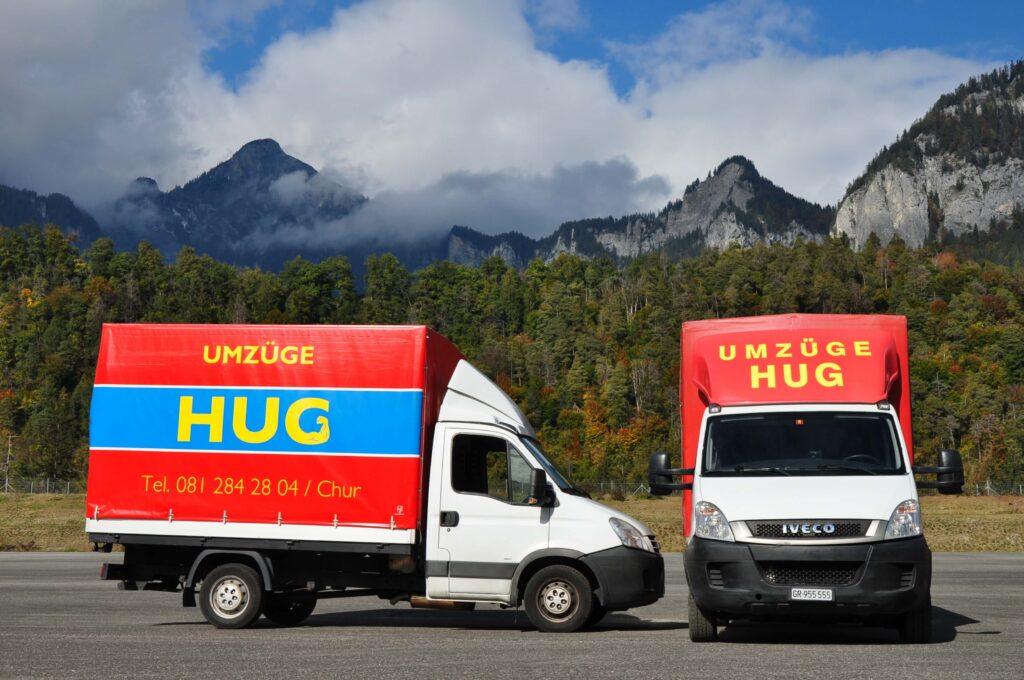 Hug Umzuege Lieferwagen vorne und seitlich